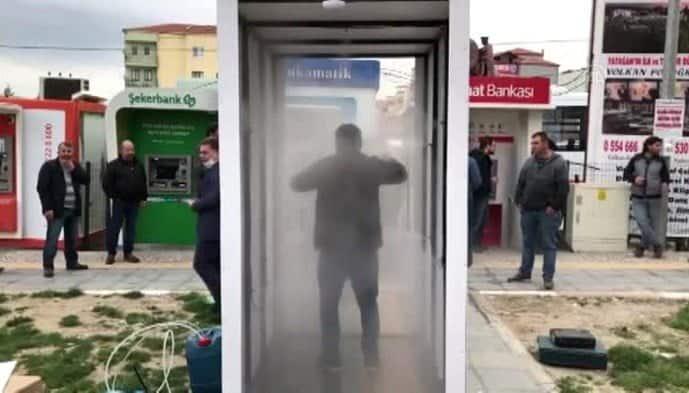 Yatağan Belediyesi 2 noktaya dezenfekte tüneli kurdu