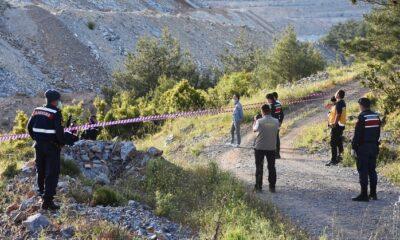 Yüksek gerilim hattı yakınında yanmış erkek cesedi bulundu