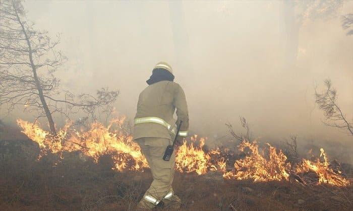 Orman yangını söndürme ekipleri teyakkuza geçirildi