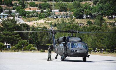 Helikopterle bayram denetimi