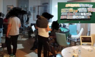 Bodrum'da Kumar oynarken yakalandılar