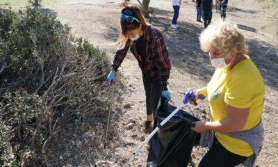 Bodrum'da bulunan Küdür Yarımadası'nda çevre temizliği yapıldı
