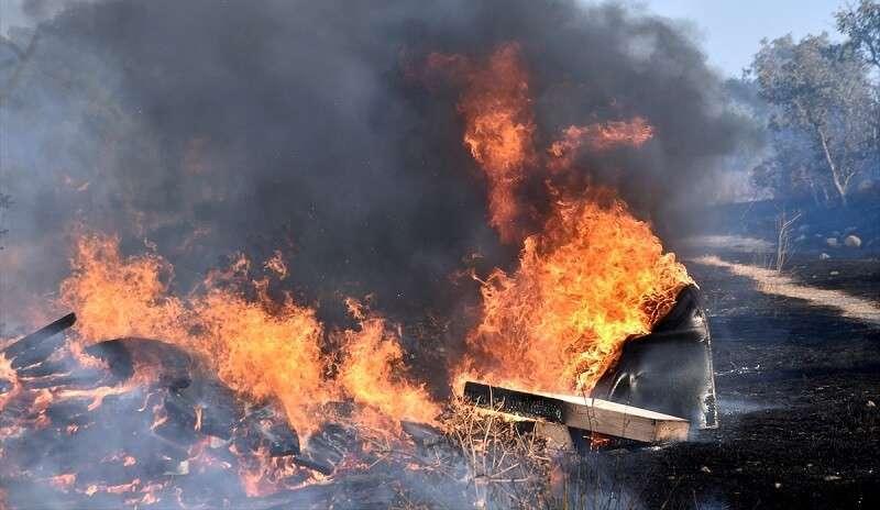 Bodrum'da makilik ve otluk alanda çıkan yangın söndürüldü