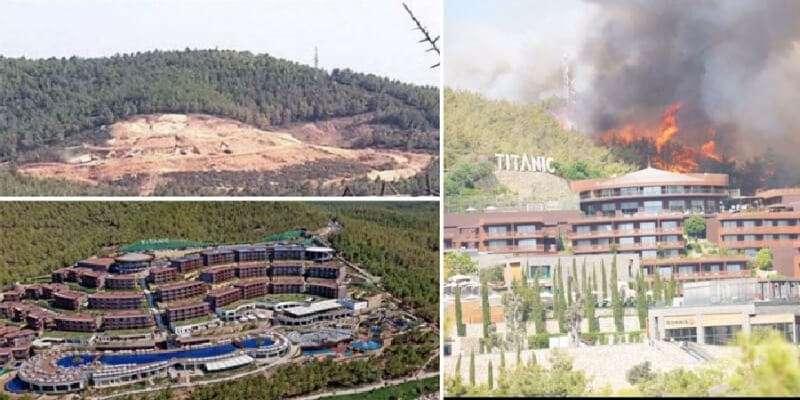 """Titanic Otel: """"Turizm Merkezi'ne tesis yapmak için ormanın yakılmasına gerek yok"""""""