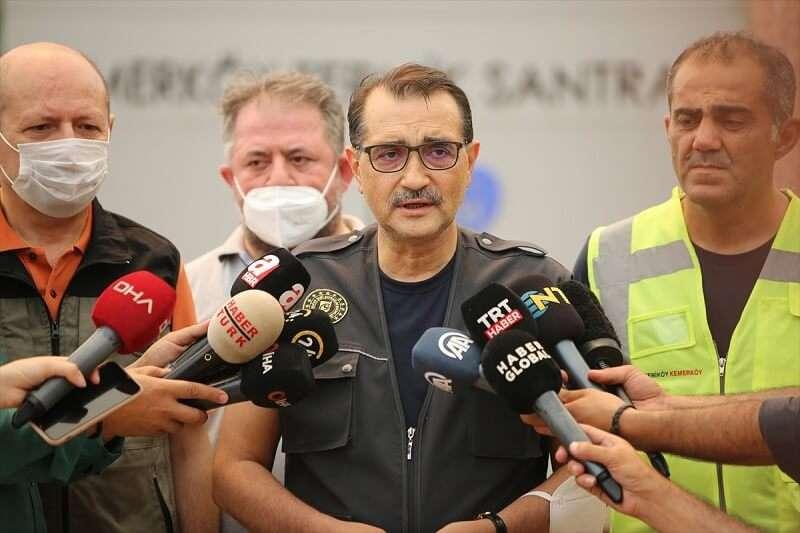 Bakan Dönmez, Kemerköy Termik Santrali'nde incelemelerde bulundu: