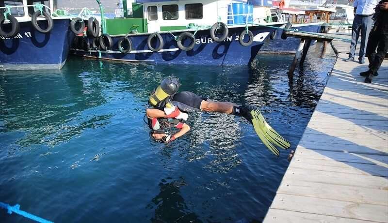 Bodrum'da yeni av sezonunun açılışında denize 30 bin yavru balık bırakıldı