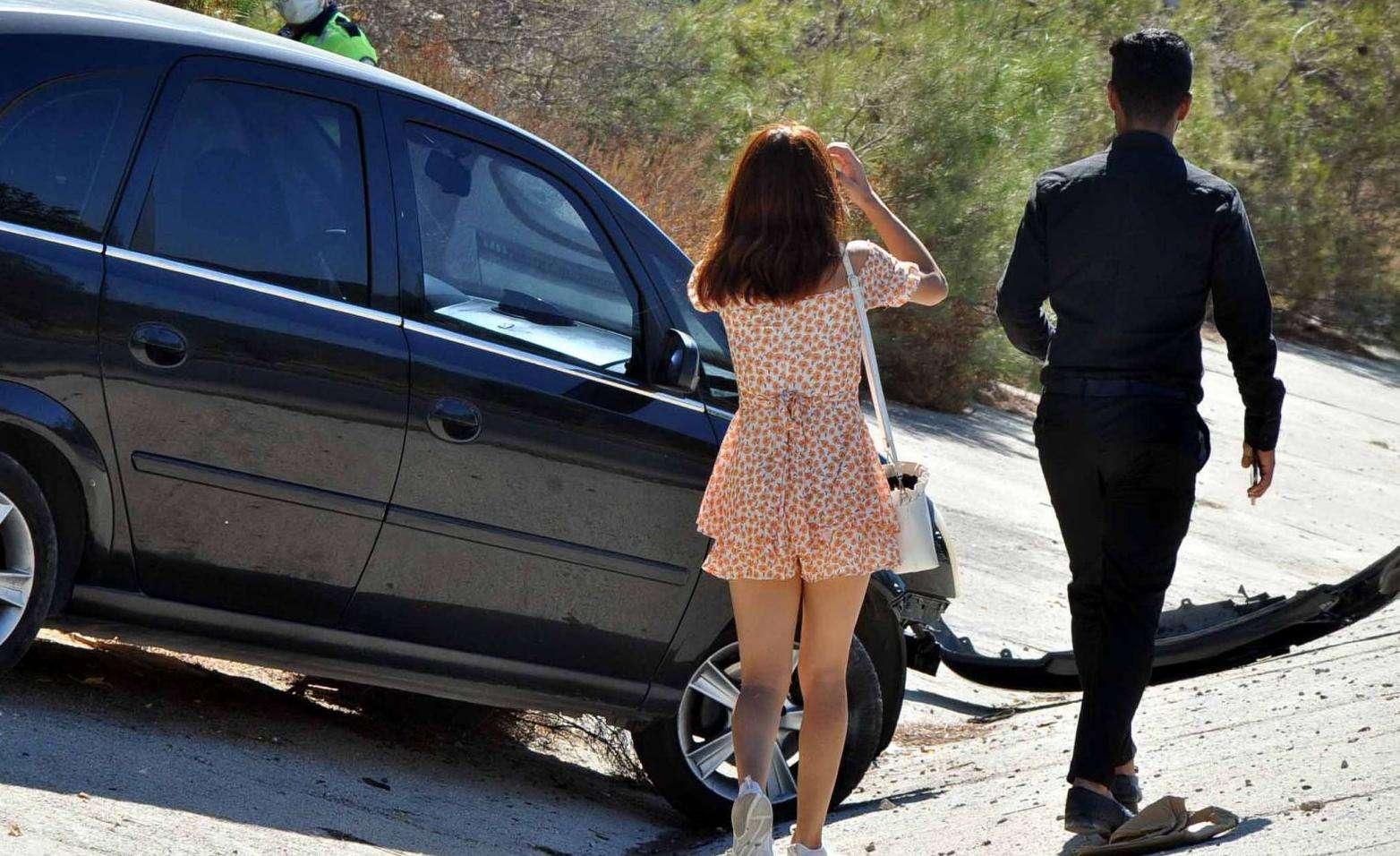 Torba'da ki kazayı şans eseri yaralanmadan atlattılar
